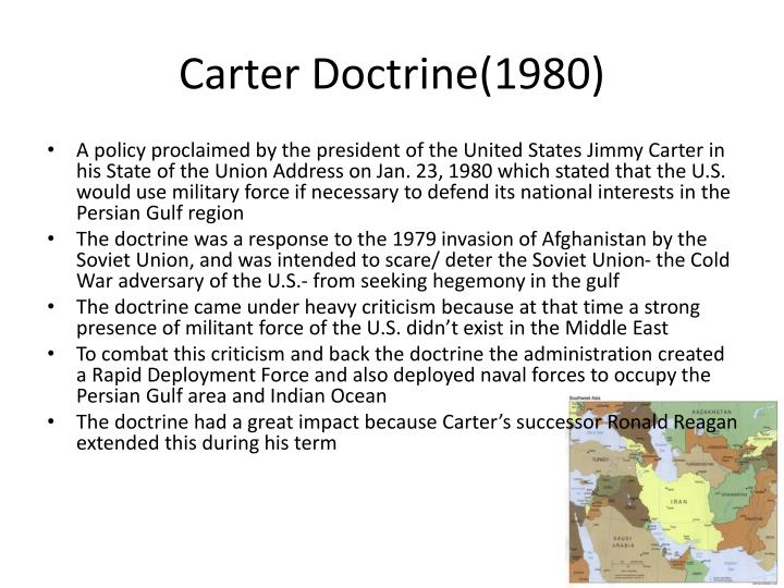 Carter Doctrine(1980)