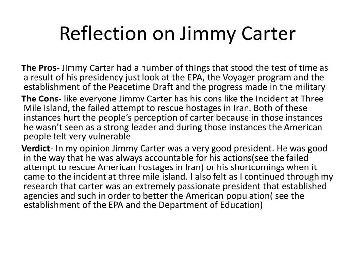 Reflection on Jimmy Carter