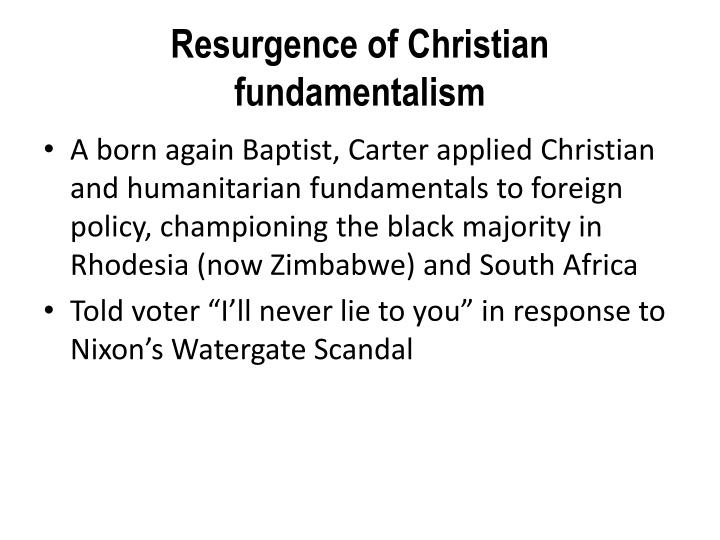 Resurgence of Christian fundamentalism
