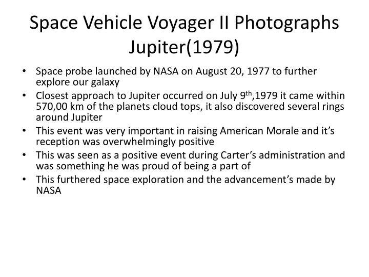 Space Vehicle Voyager II Photographs Jupiter(1979)