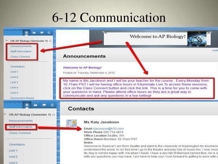 6-12 Communication