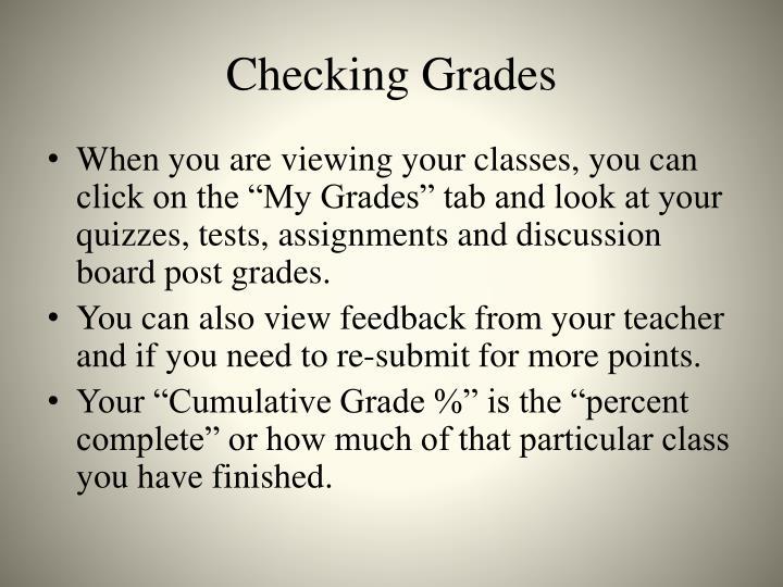 Checking Grades