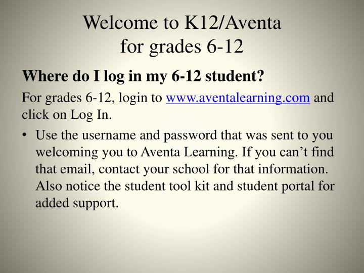 Welcome to K12/