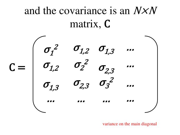 and the covariance is an
