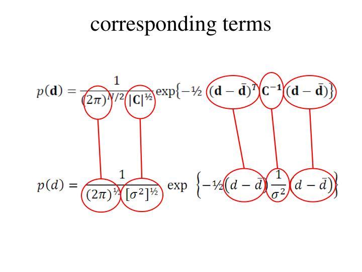 corresponding terms