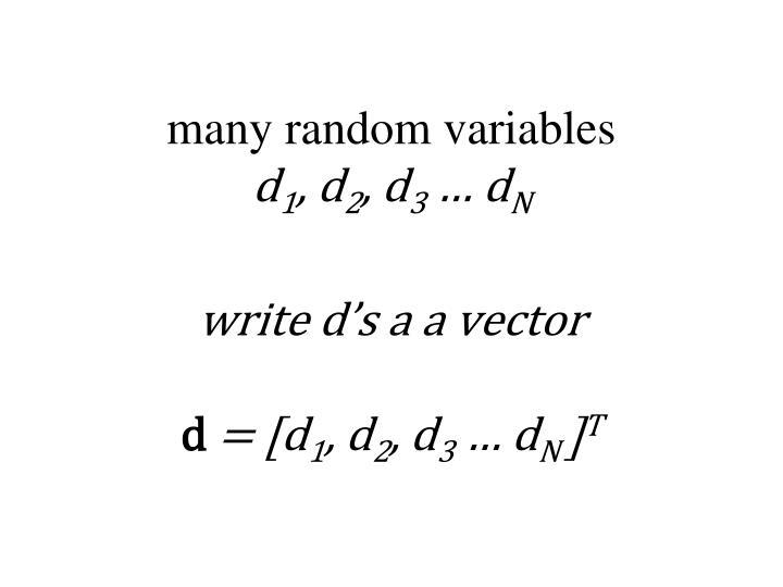 many random variables