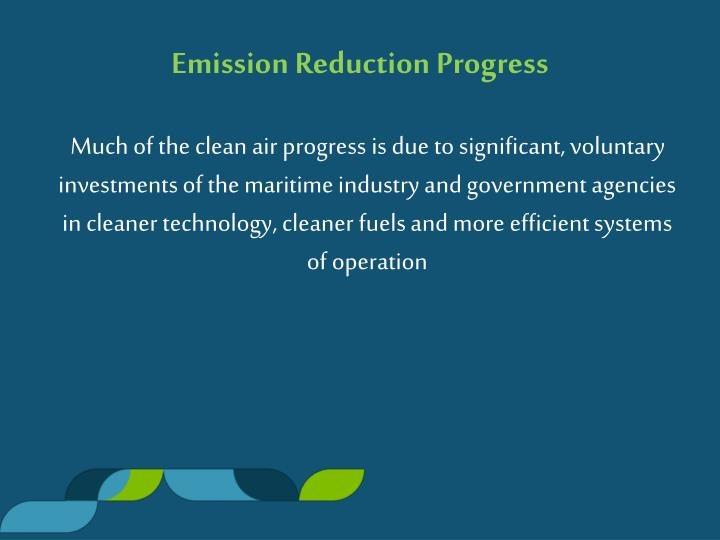 Emission Reduction Progress