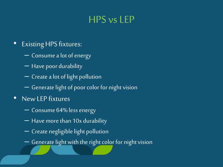 HPS vs LEP