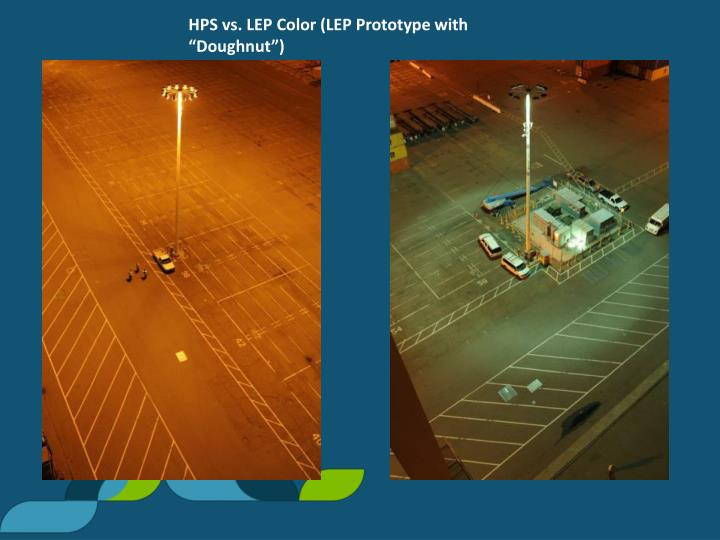 "HPS vs. LEP Color (LEP Prototype with ""Doughnut"")"
