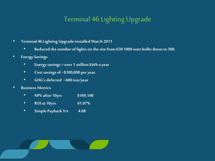 Terminal 46 Lighting Upgrade