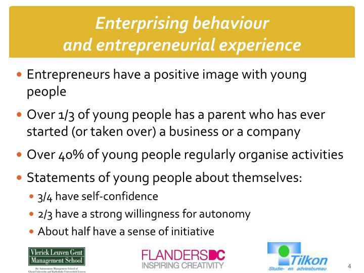 Enterprising behaviour