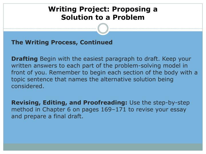 proposing solutions essay