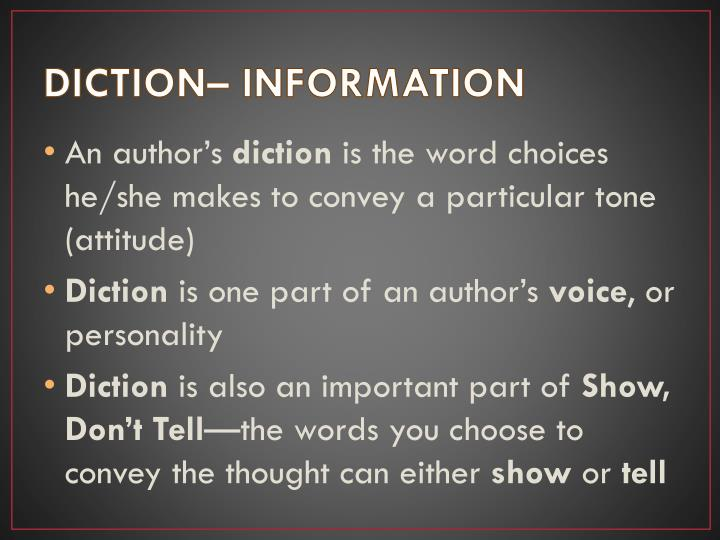 DICTION– INFORMATION