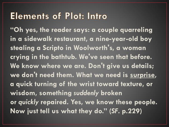 Elements of Plot: Intro