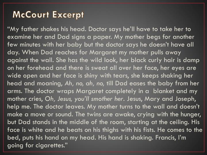 McCourt Excerpt