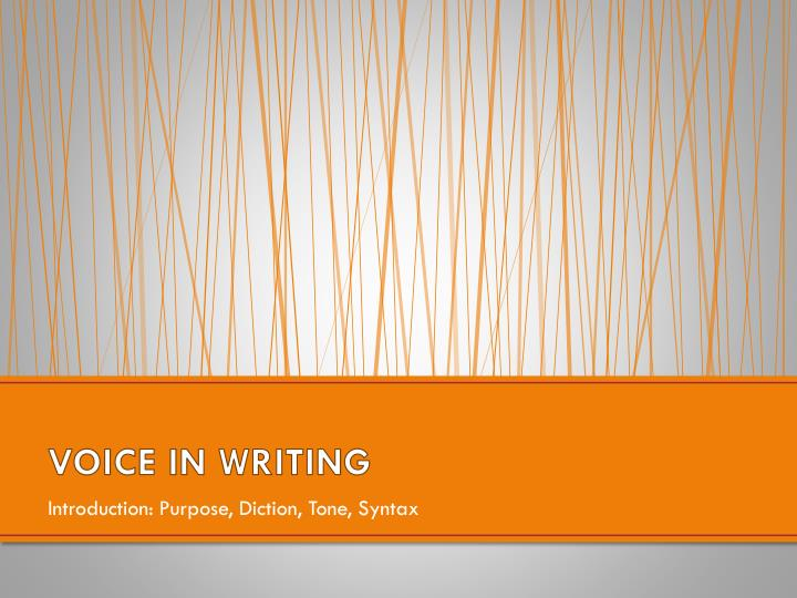 Voice in writing