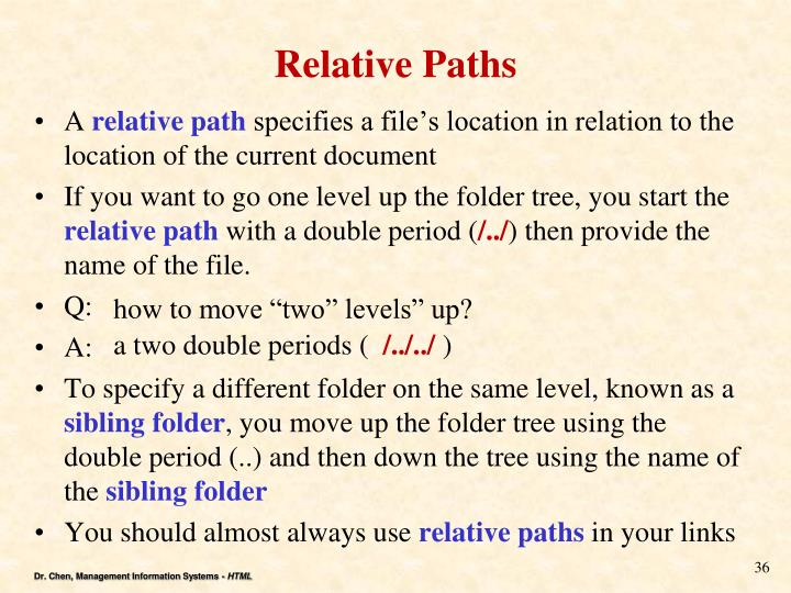 Relative Paths