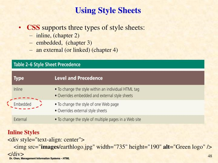 Using Style Sheets