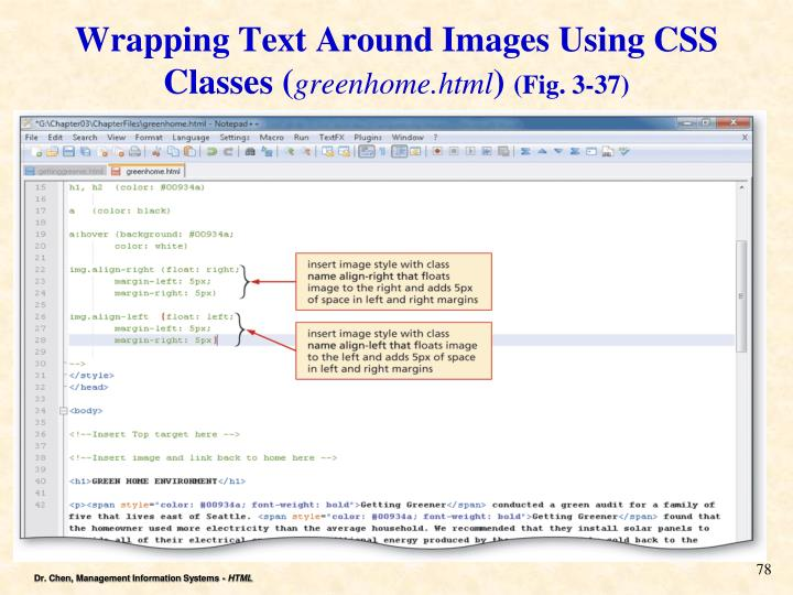 Wrapping Text Around Images Using CSS Classes (
