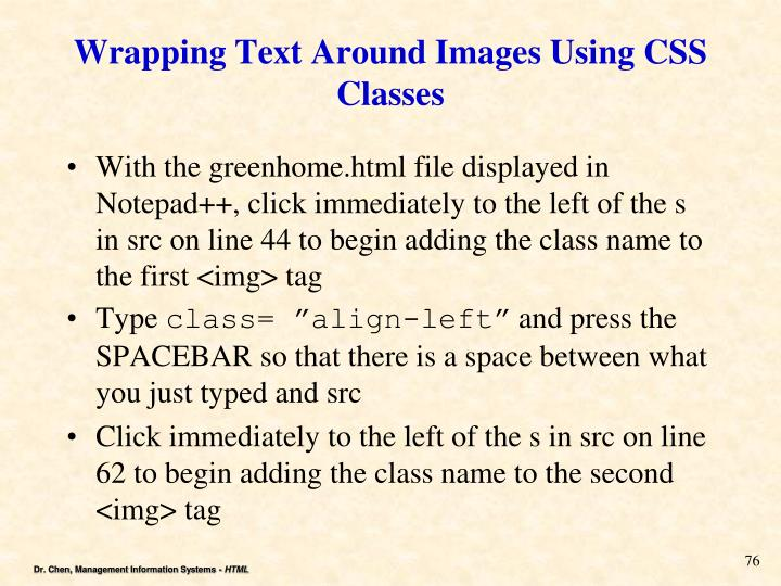 Wrapping Text Around Images Using CSS Classes