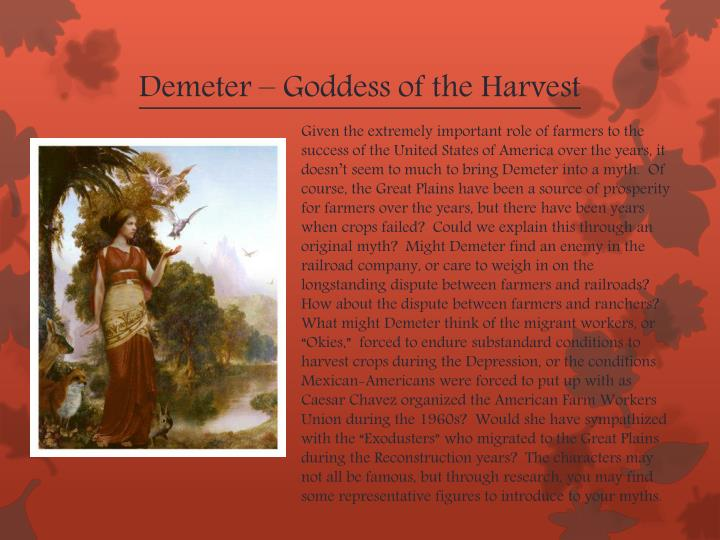 Demeter – Goddess of the Harvest
