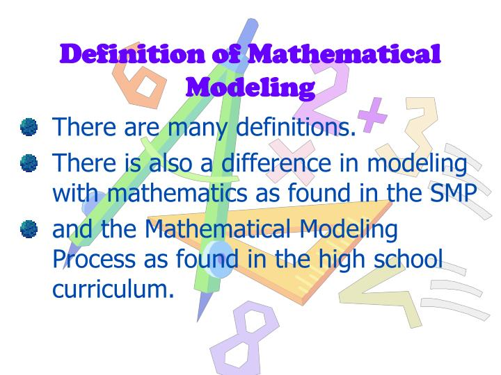 Definition of mathematical modeling