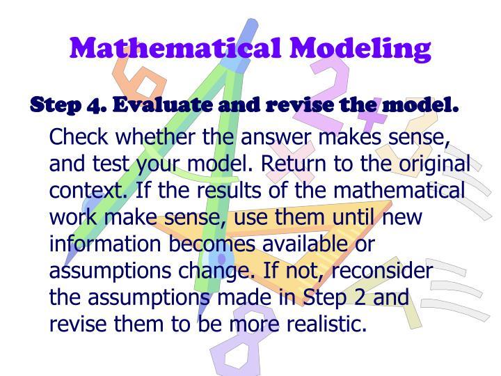 Mathematical Modeling
