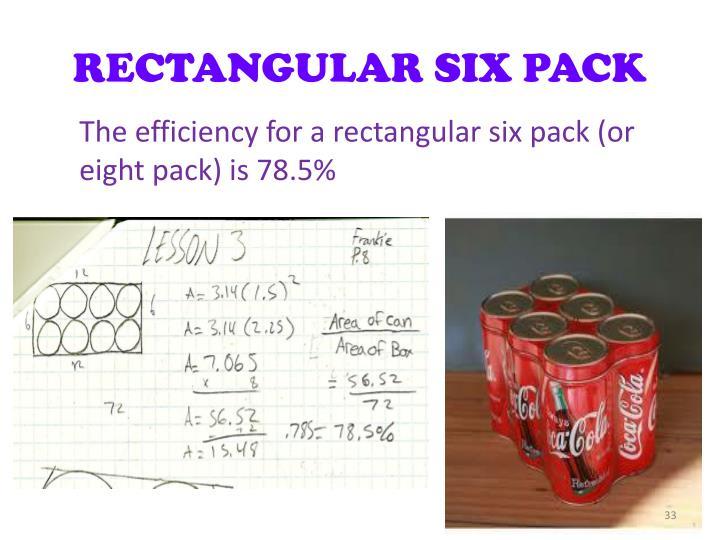 RECTANGULAR SIX PACK