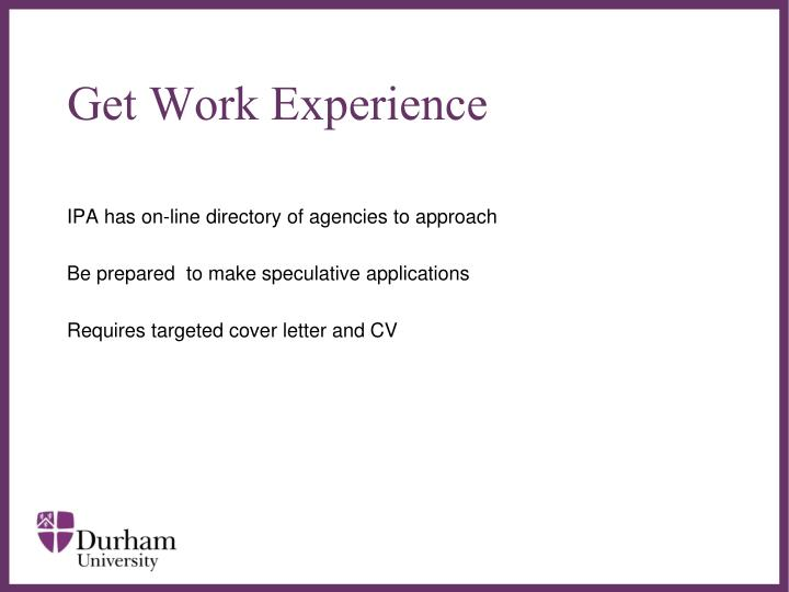 Get Work Experience