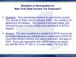 resident or nonresident for new york state income tax purposes1