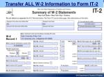 transfer all w 2 information to form it 2