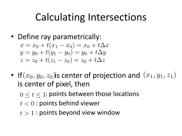 Calculating Intersections