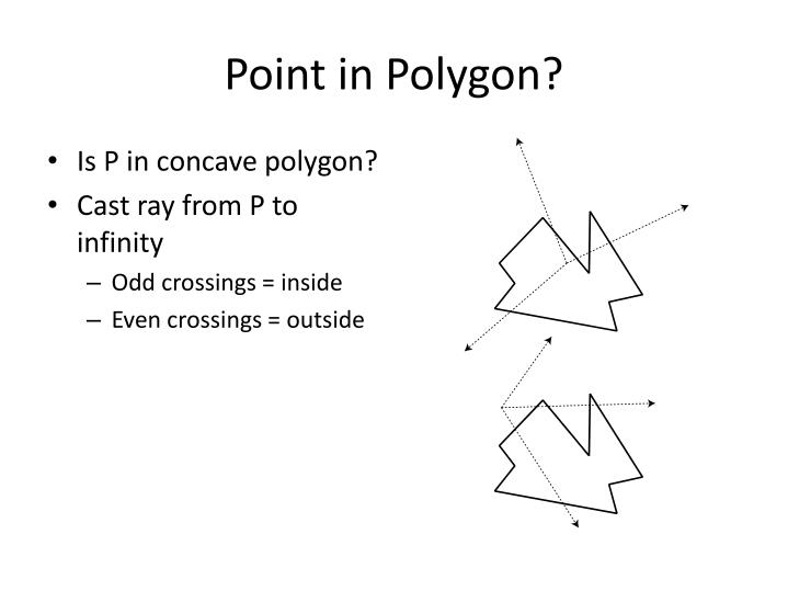 Point in Polygon?