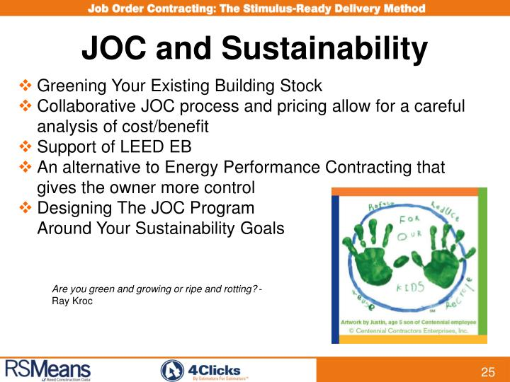 JOC and Sustainability