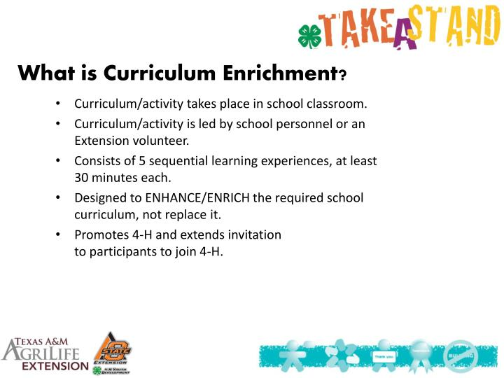What is Curriculum Enrichment?