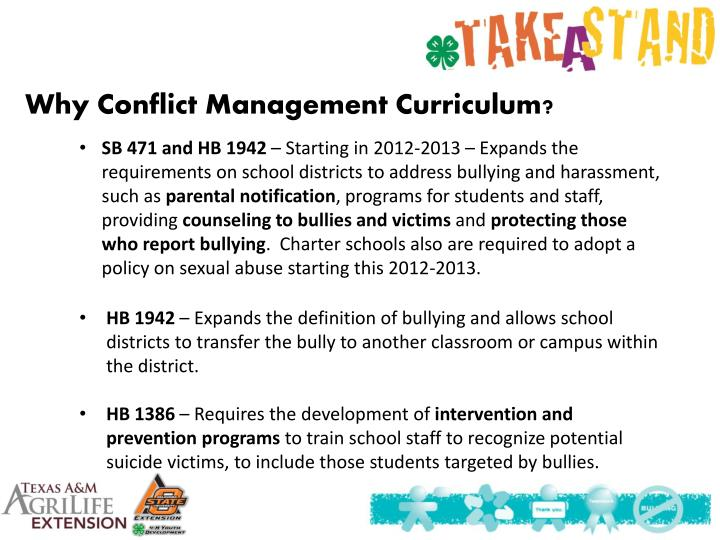 Why Conflict Management Curriculum?