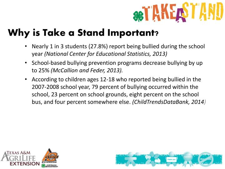 Why is Take a Stand Important?