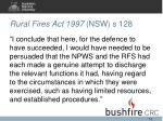rural fires act 1997 nsw s 128