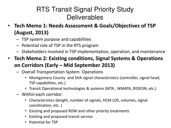 RTS Transit Signal Priority Study