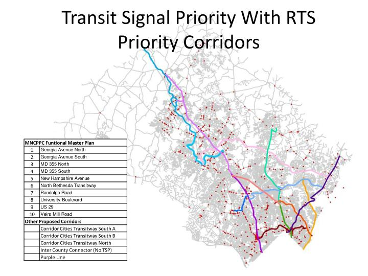 Transit Signal Priority With RTS