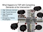 what happens to tsp with competing demands at the intersection