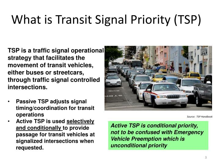 What is Transit Signal Priority (TSP)