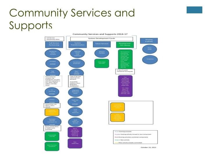 Community Services and Supports