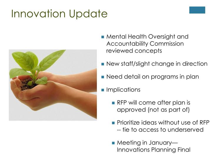 Innovation Update