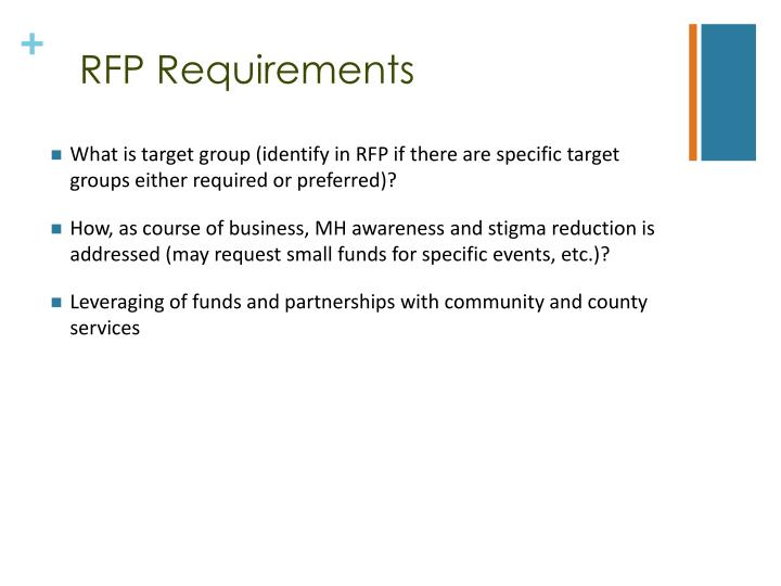 RFP Requirements