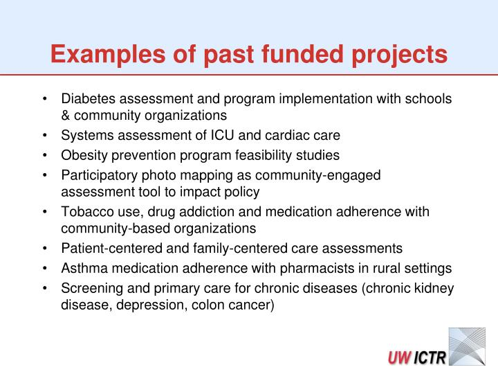 Examples of past funded projects