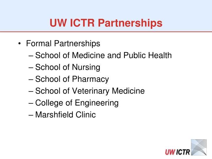 UW ICTR Partnerships