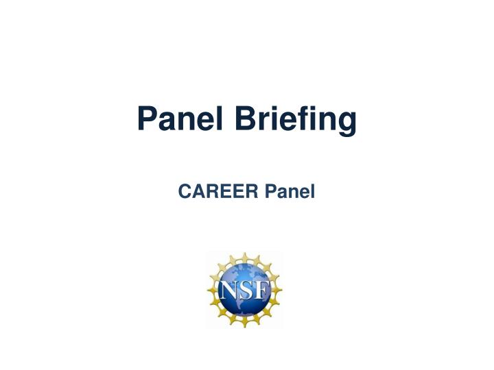 Panel briefing