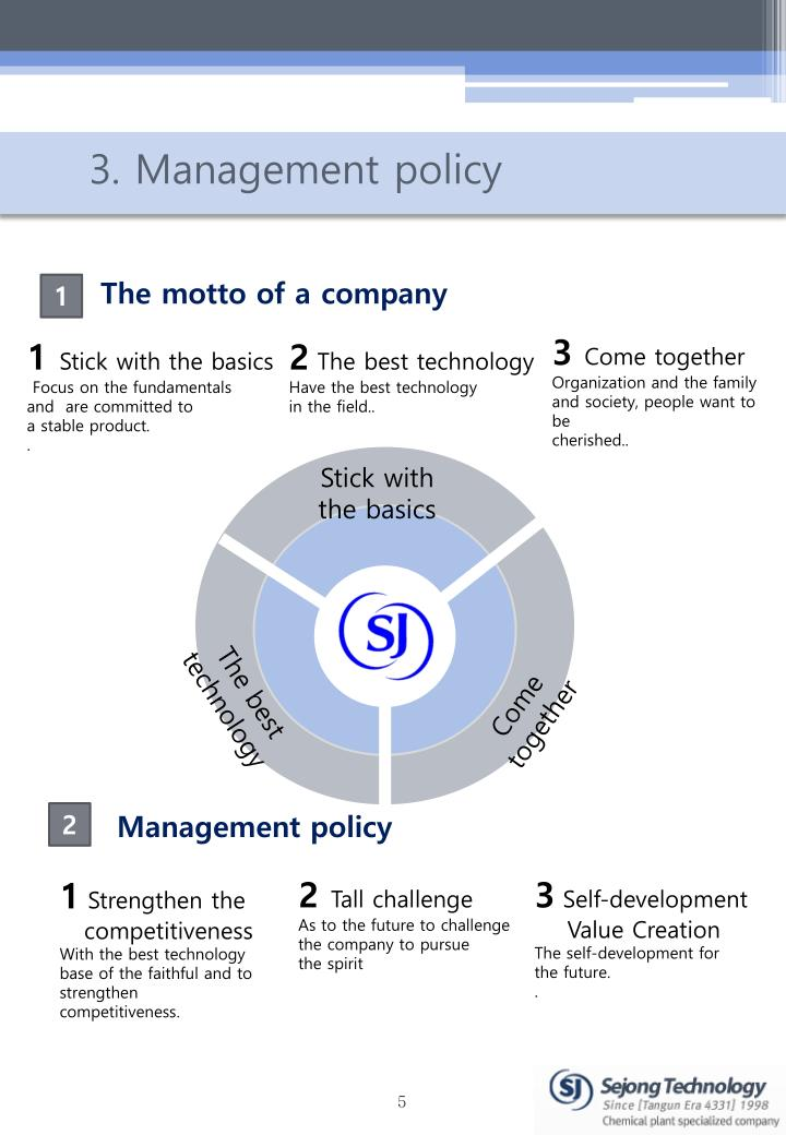 3. Management policy