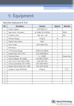 9 equipment
